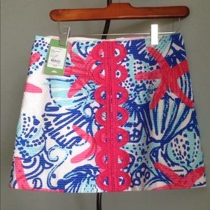 NWOT LILLY PULITZER TATE SHE SHE SHELLS SKIRT